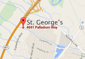 St. George's Map - 4691 Palladium Way, Burlington